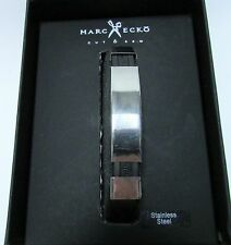 MARC ECKO CUT & SEW New! Men's Bracelet Stainless Steel ETCHED JELLY BAND 8""