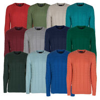 Marks & Spencer Mens Blue Harbour Cable Jumper New M&S Aran Sweater Pullover Top