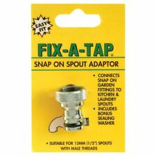 "Fix-A-Tap Snap On Spout Adaptor for 13mm (1/2"" inch) spouts with male threads"