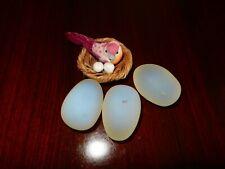 Stone Egg bird nest (Lot of 3 eggs and a bird nest)