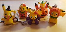 Pikachu Pokemon Haloween keychain komplett Gashapon Set original Takara Tomy