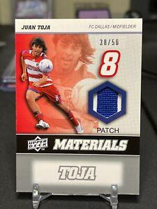 2008 Upper Deck MLS Juan Toja Materials Dual Color #d 38/50 FC Dallas