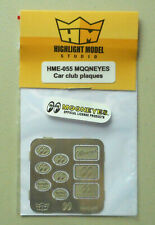 1/24-1/25 Mooneyes Car Club Plaques HIGHLIGHT MODEL CAR Part 55