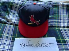 ST. LOUIS CARDINALS NEW ERA 59FIFTY CAP NAVY SIZE 7 1/8 56.8 CM GREAT CONDITION