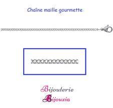 Chaîne Maille Gourmette 50CM En Acier Inoxydable 316L  Bijoux Homme/Femme