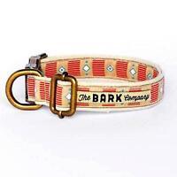 Collare e Guinzaglio per Cane in Cotone Finimenti in Metallo The Bark Mod. Agave
