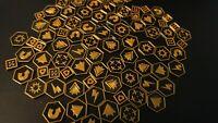 Warhammer 40K Kill Team Tokens Black & Gold Tactic Tokens x80