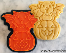 Kitty Cat Jack O Lantern Halloween Pumpkin Cookie Cutter Baking Supply Ceramics