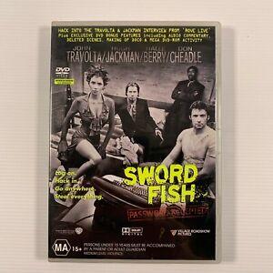 Swordfish (DVD, 2001) Hugh Jackman, John Travolta, Halle Berry Region 4