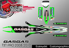 GASGAS TXT PRO 2008-2010 CUSTOM GRAPHICS KIT TRIALS DECALS MOTOCROSS STICKERS