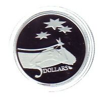 1992 $5 Silver Proof Coin International Year of Space Sky Stars Universe