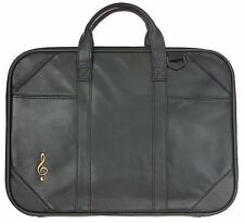 LEATHER Music Bag Case Holdall Briefcase QUALITY NEW TEACHER CHRISTMAS PRESENT