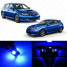 6 x Ultra Blue LED Interior Lights Package For 2004-2013 Subaru Impreza WRX STI