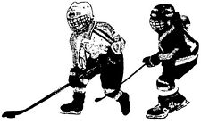 Wood Mounted Rubber Stamps, Sports Stamps, Sport, Ice Hockey, Skaters, Hockey