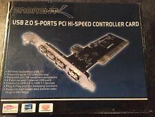 Sabrent USB 2.0 5-Ports PCI Hi-Speed Controller Card