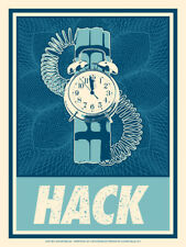 Angry Blue Limited Edition Angryblue Hack Screen Print Nerd 2012 Sold out rare