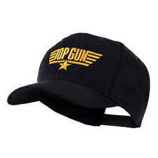 US Navy Top Gun Logo Embroidered Baseball Cap Black Hat OSFM One Size Fits Most