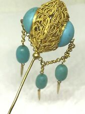 Antique Hat Pin Stylish Turquoise Dangle. Similar 1s in Lillian Baker's Book