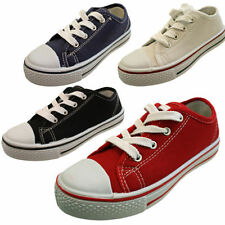 Unbranded Medium Width Plimsolls Canvas Shoes for Boys