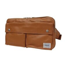 New PORTER FREE STYLE WAIST BAG 707-07147 CAMEL With tracking From Japan
