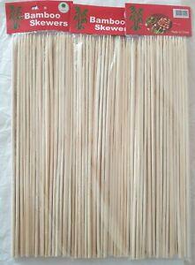 Skewers Sticks BBQ Bamboo  120+pcs For BBQ Kebab Fruit Wooden Sticks 12Inch