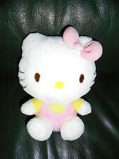 Doudou Sanrio Peluche Hello Kitty Blanche Et Rose Etat Neuf