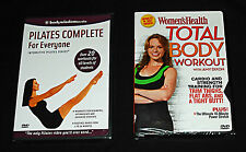 Womens Fitness Two (2) DVDs PILATES & TOTAL BODY WORKOUT - Thighs Abs & Butt NEW