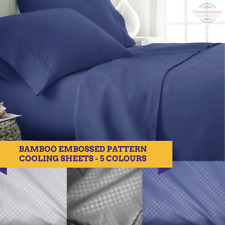 2000TC Bamboo Cooling Embossed Sheet Set | Hypo-Allergenic Sheets Ramesses Brand