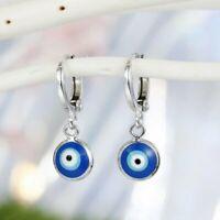 Lucky Evil Eye Hoop Earrings Blue Eye Drop Dangle Stud Women Charm Jewelry Xmas