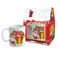 Merry CHRISTMAS TEA & tazza caffè confezione regalo pronto in una scatola regalo - 300ml-EX16/02