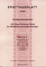 """BRD MiNr 1044 ETB 9-80 f  """"100 Jahre Deutscher Fürsorgeverein D.V.f.ö.u.p.F"""" vb."""