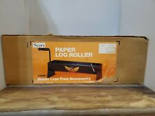 Rare Vintage New in Box Sears Newspaper Paper Log Roller Fireplace Decor w/ Box
