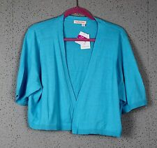 Women's 2X blue shrug or knit sweater by Fresh Produce NWT