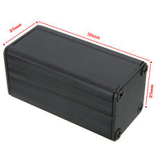 Extruded Aluminum Box Black Enclosure Electronic Project PCB DIY 50*25*25m RSE3R