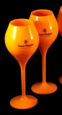 VEUVE CLICQUOT YELLOW POLY CARBONATE CHAMPAGNE TASTING FLUTE NEW  UNBOXED X 2