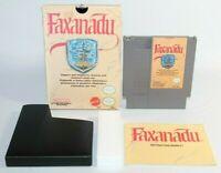 Faxanadu NES Nintendo Complete CIB Authentic Rare Mattel Hangtab Version!