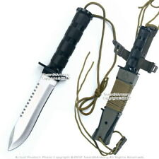Fixed Blade Military Serrated Complete Survival Knife W/ Kit & Sheath Reflector
