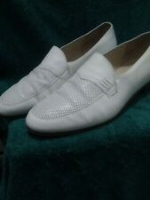MENS BALLY SHOES SIZE 7½. WHITE SLIP ON.