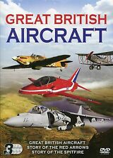 GREAT BRITISH AIRCRAFT 3 DVD BOX SET STORY OF SPITFIRE RED ARROWS & MORE PLANES