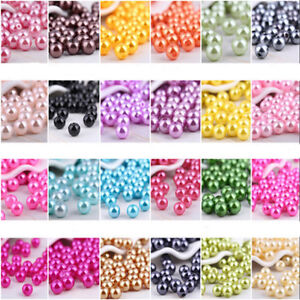 Wholesale  6mm-14mm Round Pearl Loose Acrylic Beads DIY Jewelry Making U Pick