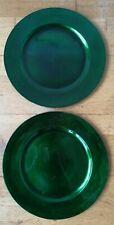 Decorative Plate Bundle green plastic shiny X33cm Christmas
