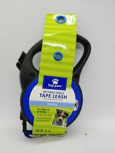 TOP PAW RETRACTABLE TAPE LEASH SMALL 10FT UP TO 45LBS Blue/Black