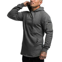 Echt Mens Pullover Hoodie Vq Fitness Gym Workout Training Muscle Sweatshirt Top