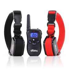 USED 2 Shock Collar for Small Dogs w/ 1 Remote  3 Mode Dog Training Rechargeable