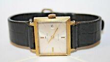 Jaquet-Droz Incabloc Women's Wristwatch Analog Rectangular Black Leather Straps