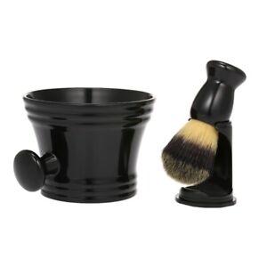 Shaving Kit for Men Wet Brush Holder Stand Soap Bowl Mug Hair