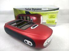 Super Bright Led Solar Power Plus Wind Up Dynamo Spot Flashlight Torch Battery