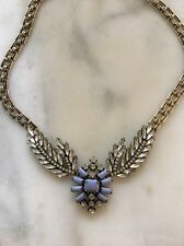 lulu frost necklace For Jcrew Winged Victory Blue Enamel And Rhinestones New