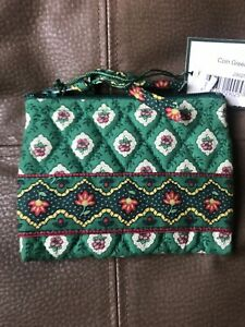 VERA BRADLEY Zippered Coin Purse GREENFIELD New With Tags, Retired, Vintage