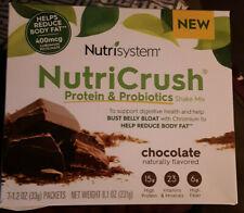 Nutrisystem Nutricrush Chocolate Shakes Brand New Box of 7